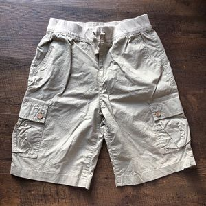 Lucky Brand Khaki Cargo Shorts Boys Sz L - EUC